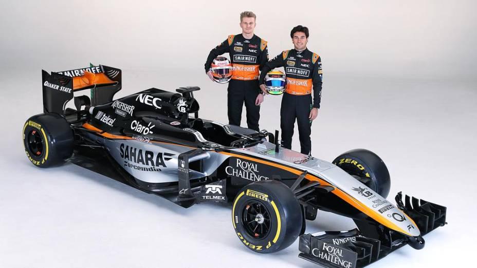 Nico Hulkenberg e Sergio Pérez apresentaram novo carro da Force India em evento realizado na Cidade do México