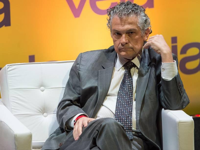 """Ricardo Paes de Barros, economista chefe do Instituto Ayrton Senna, comparece ao Fórm Veja - """"O Brasil que temos e o Brasil que queremos"""", no Teatro Santander, em São Paulo - 23/05/2016"""