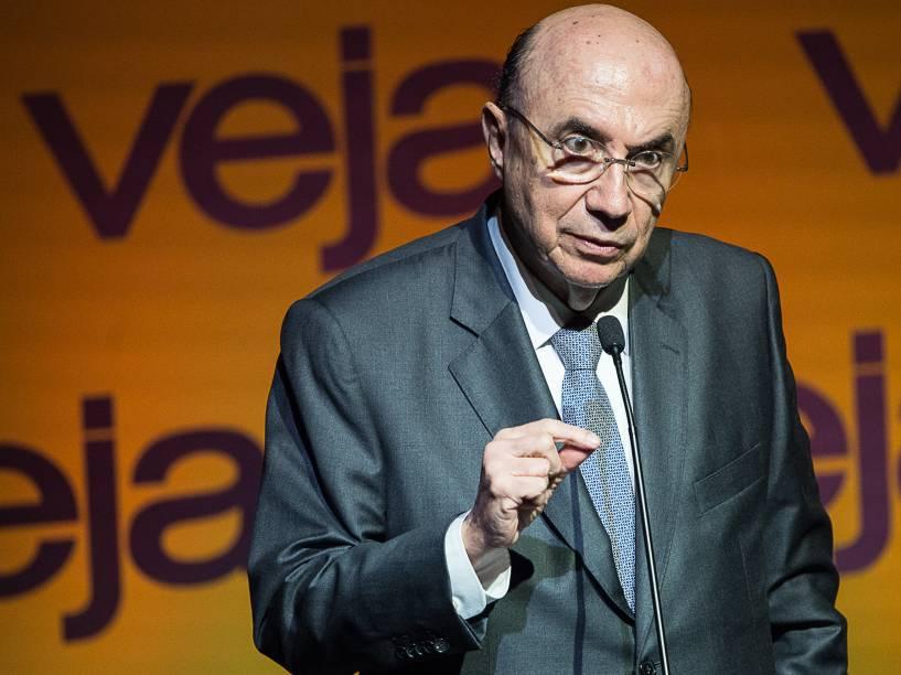 """Henrique Meirelles discursa no Fórum Veja - """"O Brasil que temos e o Brasil que queremos"""", no Teatro Santander em São Paulo - 23/05/2016"""