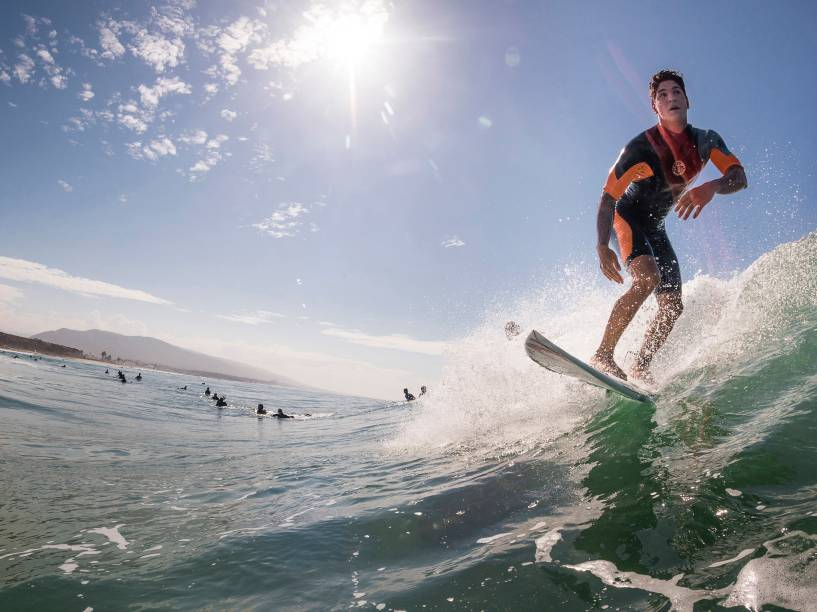 O surfista brasileiro Gabriel Medina em Trestles na Califórnia
