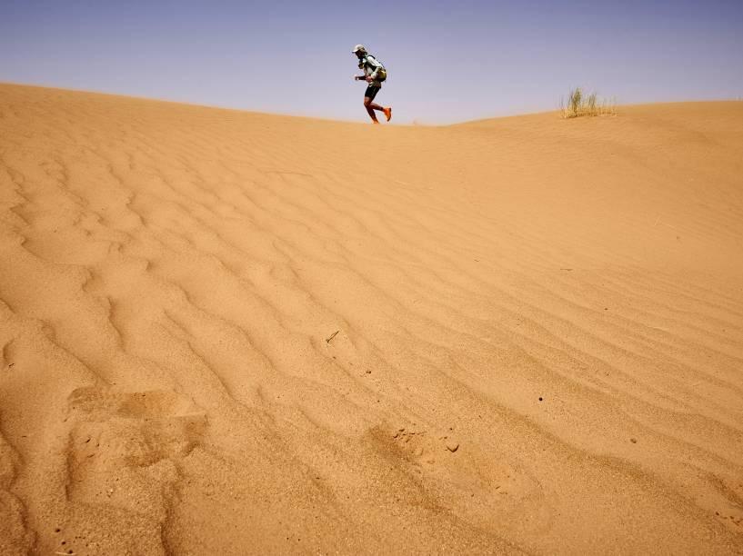 O percurso da ultramaratona corresponde a aproximadamente seis maratonas regulares (42,2 Km)