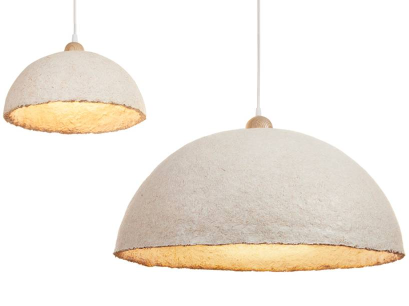 Ecovative lampshades