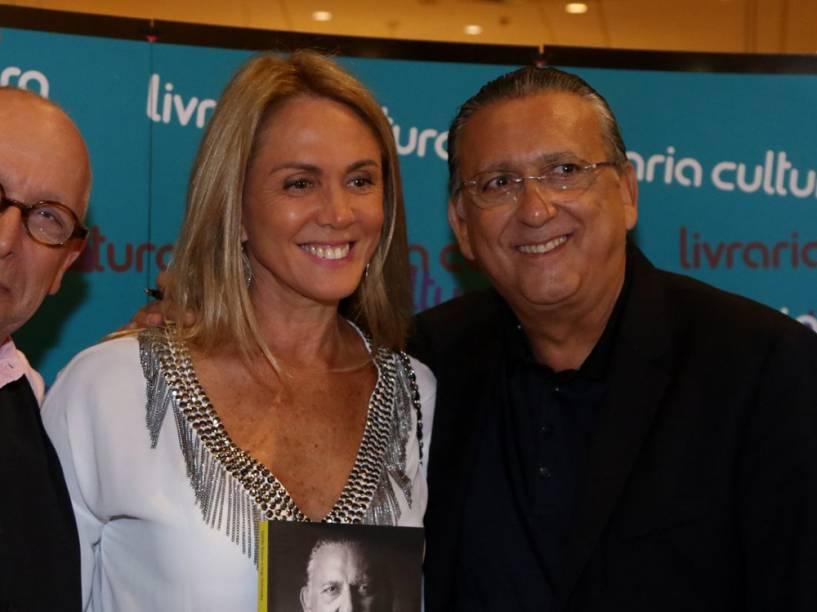Ex-jogadora de basquete Hortência prestigia Galvão Bueno