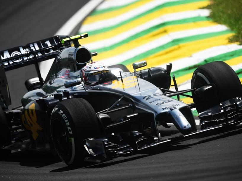 Kevin Magnussen da MCLAREN durante treino classificatório para o Grande Prêmio do Brasil de Fórmula 1