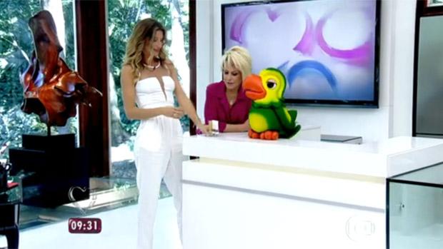 Gisele Bündchen faz merchandising no programa de Ana Maria Braga