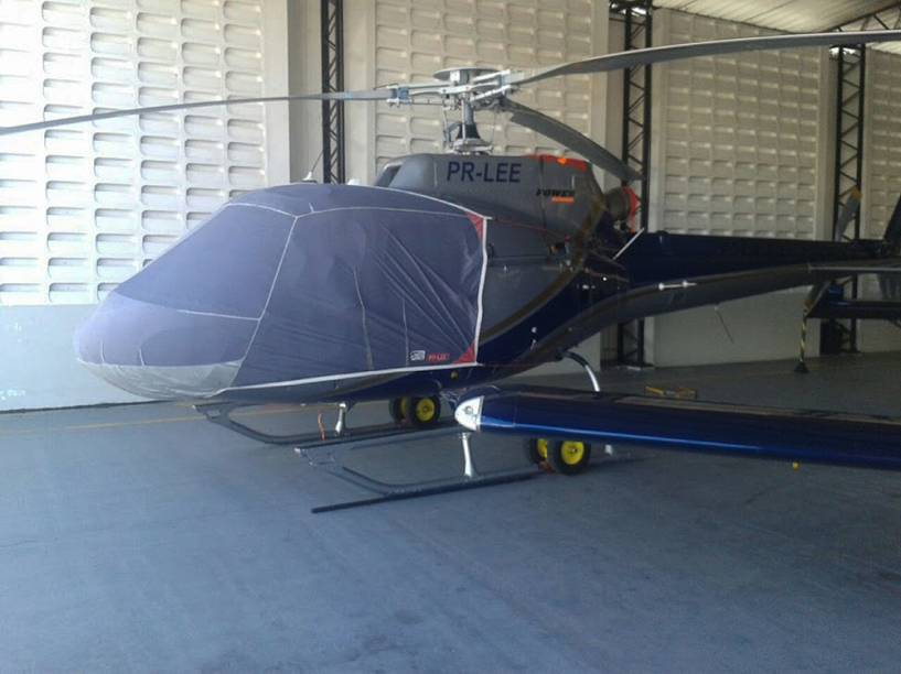 Helicóptero apreendido pela Polícia Federal