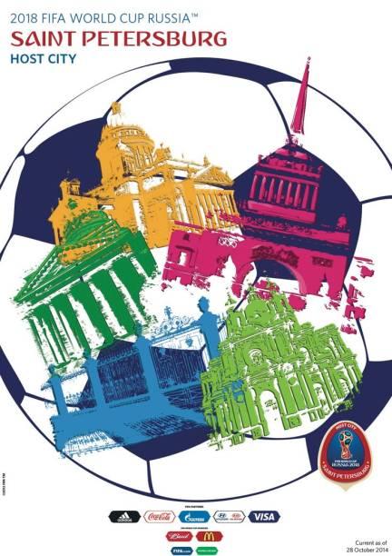 Cartazes das cidades-sede da Copa do Mundo de 2018: São Petersburgo