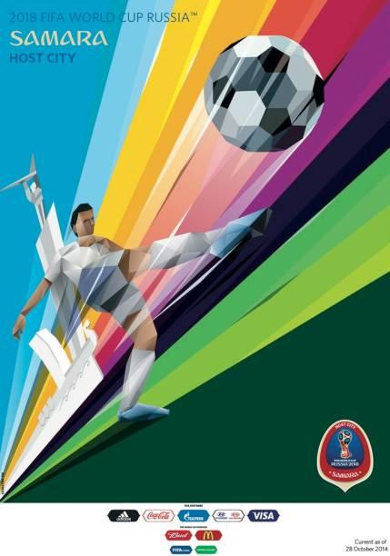 Cartazes das cidades-sede da Copa do Mundo de 2018: Samara