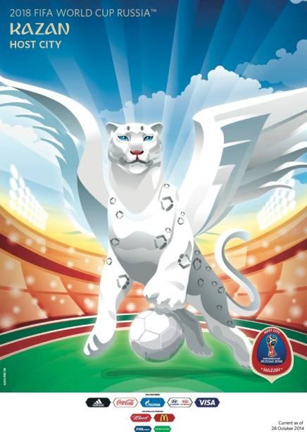 Cartazes das cidades-sede da Copa do Mundo de 2018: Kazan