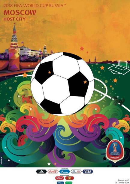 Cartazes das cidades-sede da Copa do Mundo de 2018: Moscou