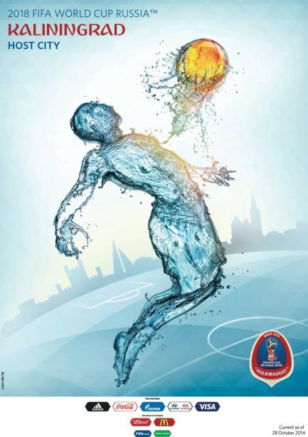 Cartazes das cidades-sede da Copa do Mundo de 2018: Kaliningrado