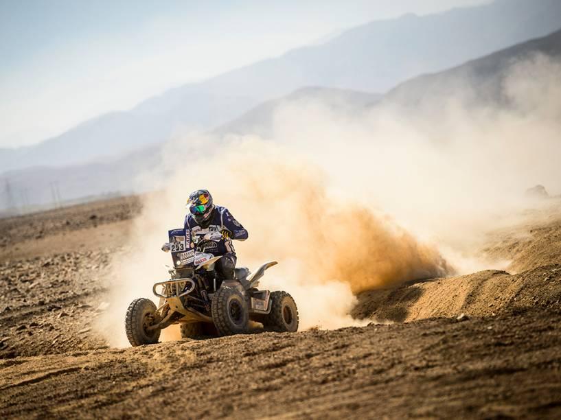 Mohamed Abu Issa é visto durante a 5ª etapa do Rally Dakar, no Chile