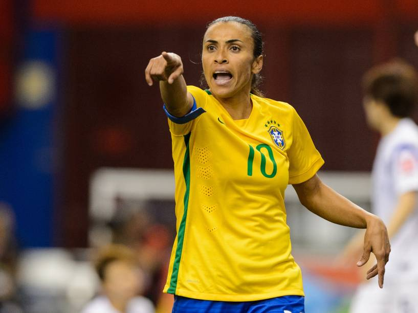 A brasileira Marta durante partida da seleção feminina de futebol contra a Coreia do Sul na Copa do Mundo em Montreal no Canadá - 09/06/2015