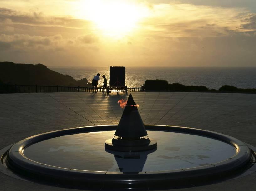 Parque Memorial da Paz, em Itoman, no Japão, homenageia aqueles que morreram na batalha de Okinawa durante a Segunda Guerra Mundial - 23/06/2015