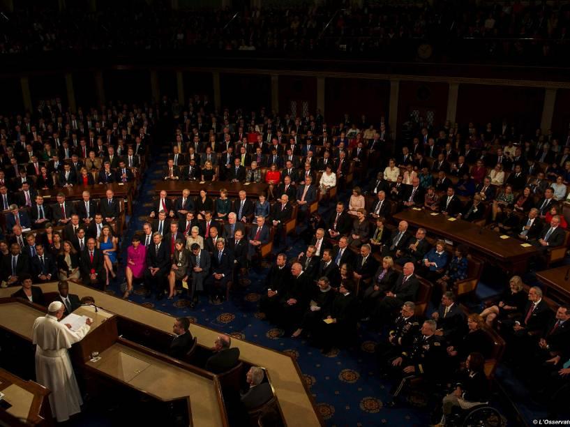 Papa Francisco discursa em sessão conjunta do Congresso dos Estados Unidos no Capitólio, em Washington - 24/09/2015