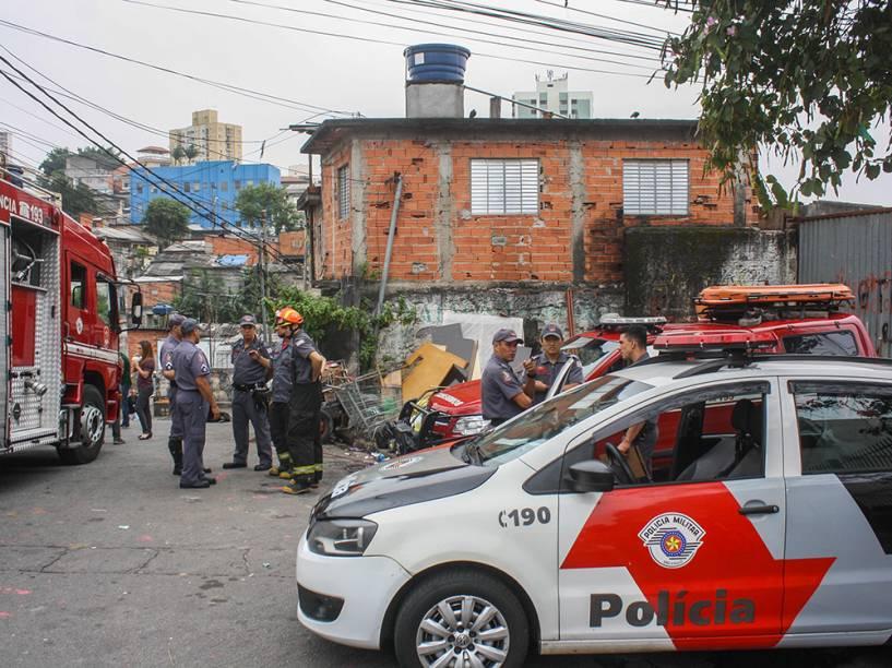 Movimentação de policiais militares, no Jabaquara, zona sul da cidade