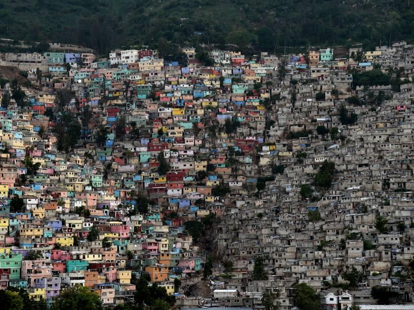 As comunidades de Jalousie, Philippeaux e Desermites na comuna de Petion Ville, em Porto Príncipe, no Haiti