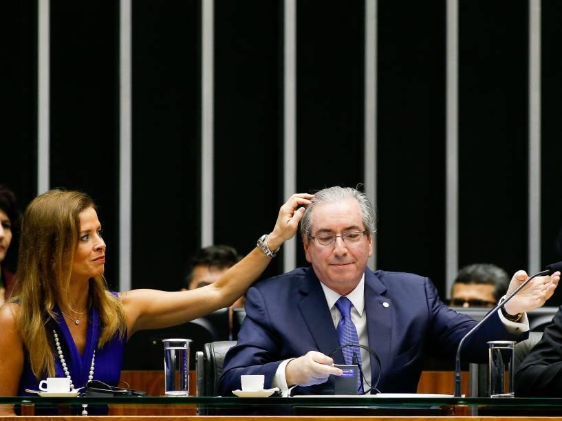 O ex-presidente da Câmara dos Deputados, Eduardo Cunha (PMDB-RJ), e a mulher Claudia Cruz
