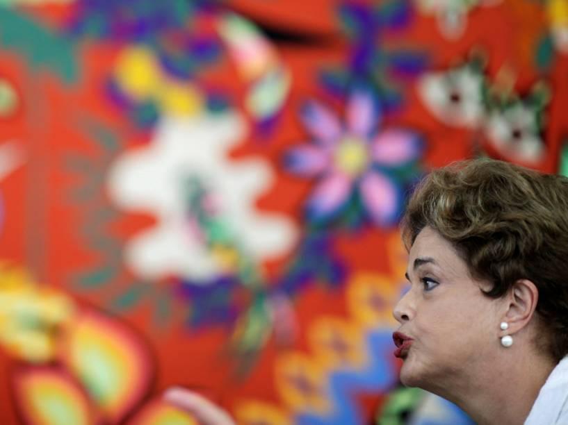 Presidente afastada Dilma Rousseff responde questões em coletiva de imprensa internacional, em Brasília - 13/05/2016