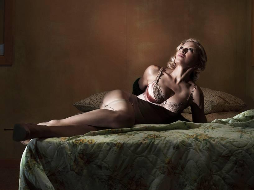 Madonna durante ensaio para a Interview Magazine