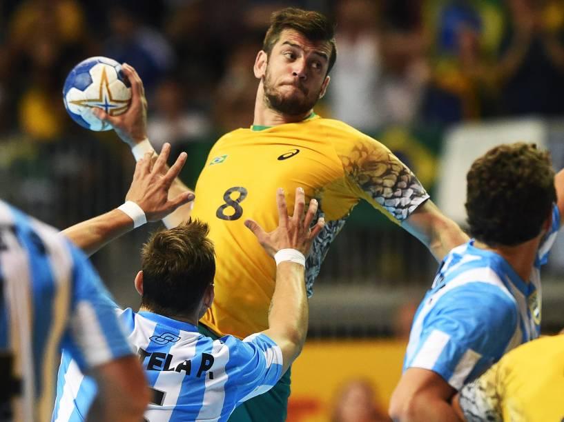 Brasil vence a Argentina na final do handebol masculino nos Jogos Pan-Americanos de Toronto