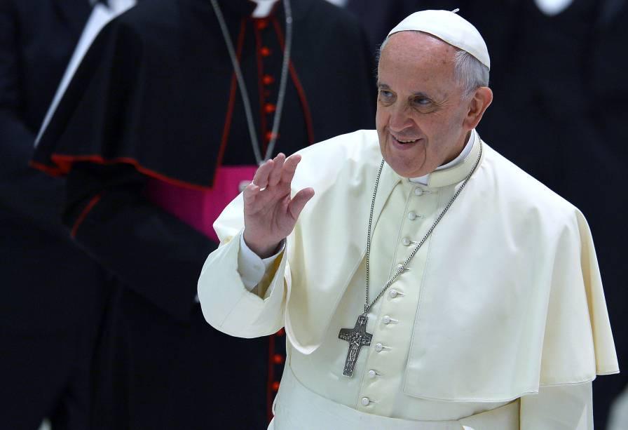 No Vaticano, Papa Francisco recebeos organizadores, jogadores e convidados do Jogo da Paz, que será realizado nesta segunda-feira (01),no Estádio Olímpico de Roma
