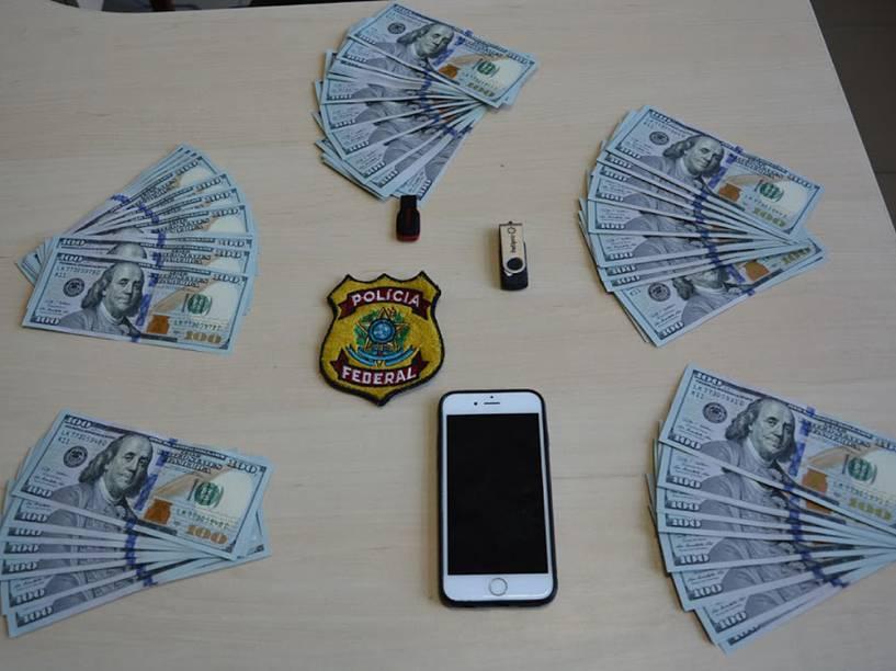 Itens apreendidos pela Polícia Federal
