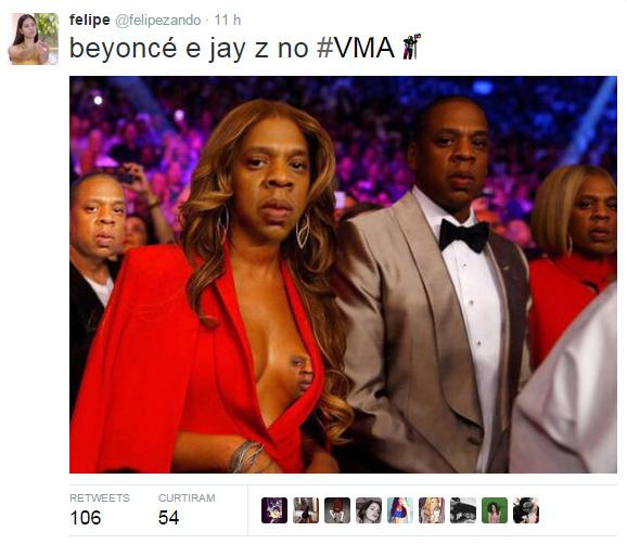 Rostos de Jay-Z foram colocados em todos os lugares