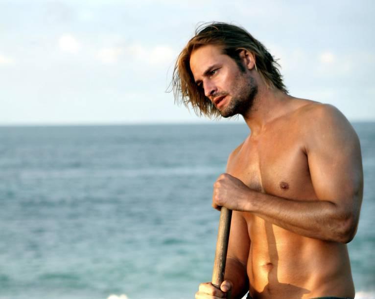 O personagem Sawyer (Josh Holloway) na série Lost