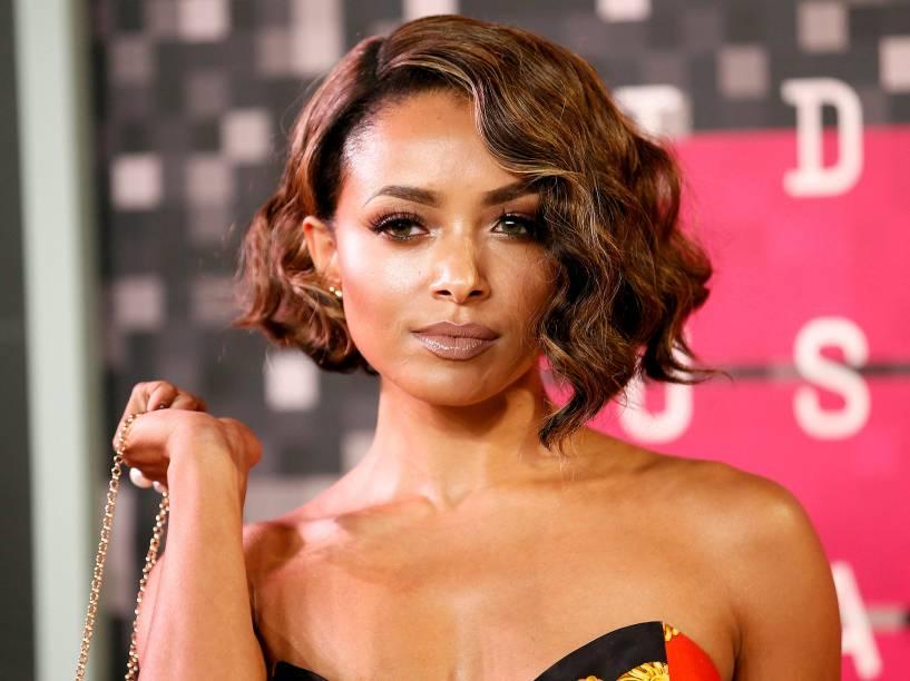 A atriz Kat Graham no Video Music Awards, da MTV, em Los Angeles, neste domingo (30)