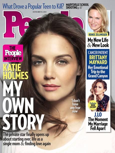 Capa da revista People em que Katie Holmes diz ter vida mais leve após casamento com Tom Cruise