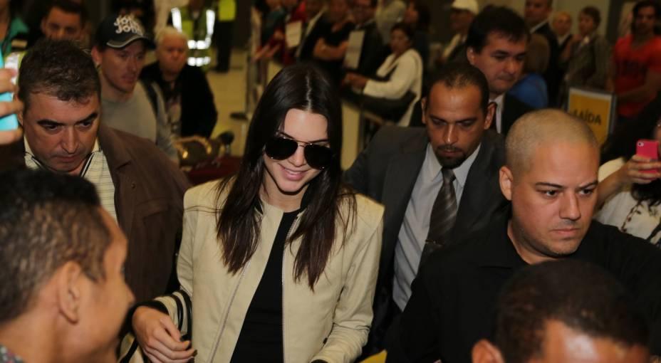 Kendall Jenner, irmã de Kim Kardashian, chega a São Paulo para lançar coleção de marca brasileira