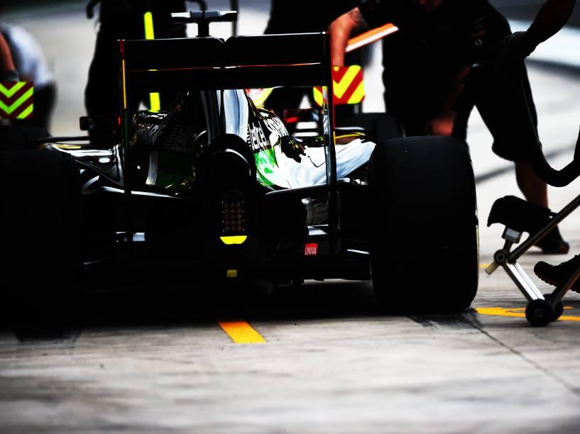 Kevin Magnussen durante treino classificatório para o Grande Prêmio do Brasil de Fórmula 1