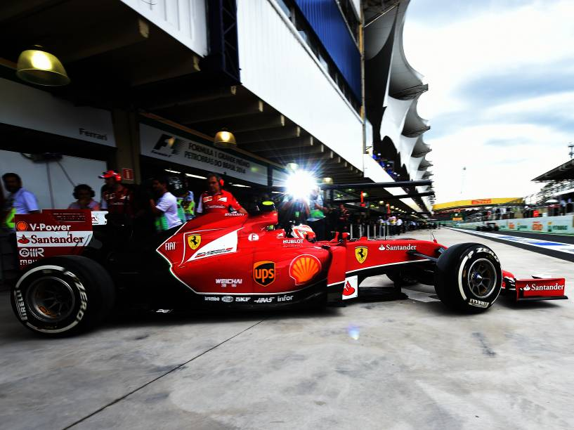 Kimi Raikkonen durante treino classificatório para o Grande Prêmio do Brasil de Fórmula 1