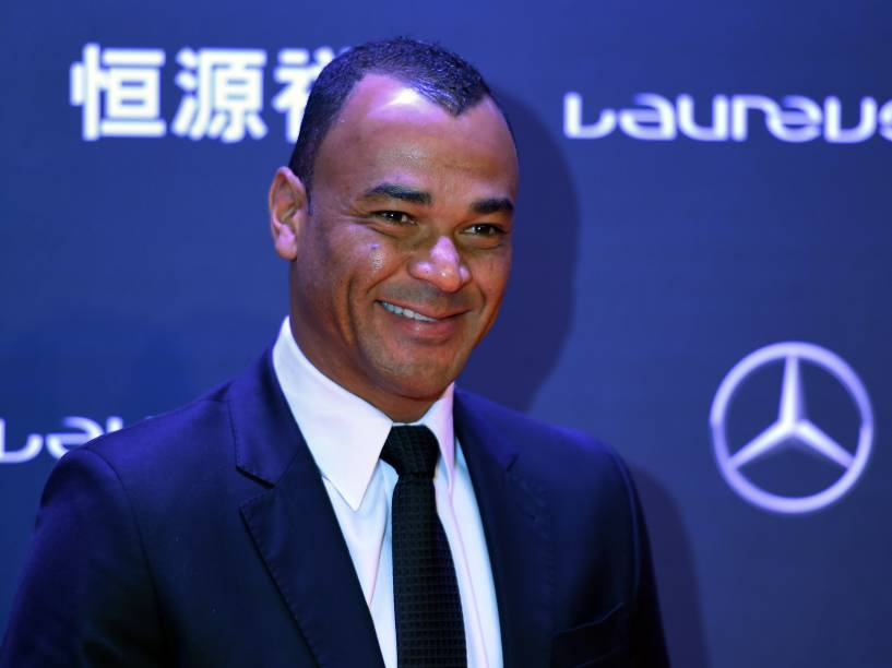 O ex-jogador de futebol, Cafu, compareceu à cerimônia do Prêmio Laureus 2015