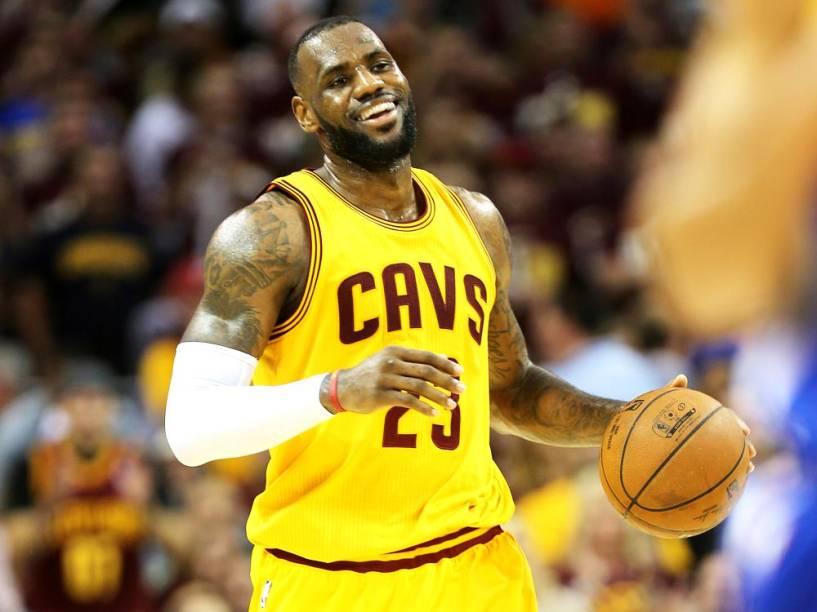 O jogador de basquete LeBron James, do Cleveland Cavaliers
