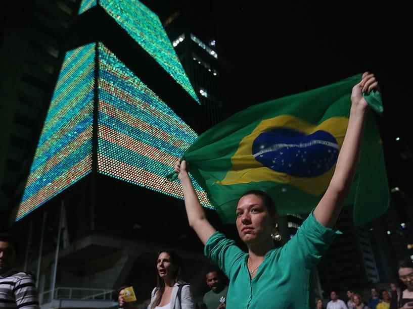 Manifestação contra a nomeação do ex-Presidente Lula como novo Ministro da Casa Civil, em São Paulo