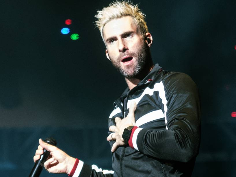 Adam Levine, vocalista da banda Maroon 5 se apresenta em Porto Alegre, na capital gaúcha