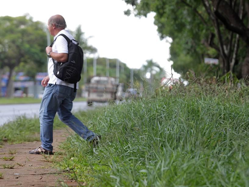 No Plano Piloto, a região central de Brasília, o mato alto denuncia a incapacidade de gestão de Agnelo Queiroz