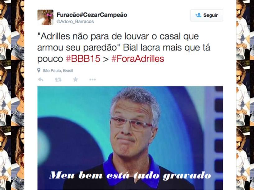 As reações de Pedro Bial também viraram meme nas mãos dos internautas