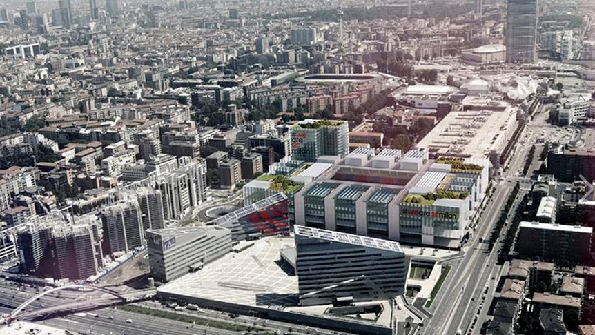 """Futuro estádio do Milan ficará """"disfarçado"""" entre os  prédios da vizinhança durante o dia"""