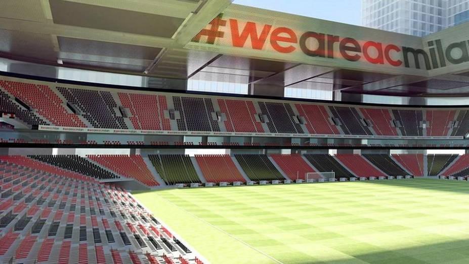 Projeto do futuro estádio do Milan, que deve ficar pronto até 2019