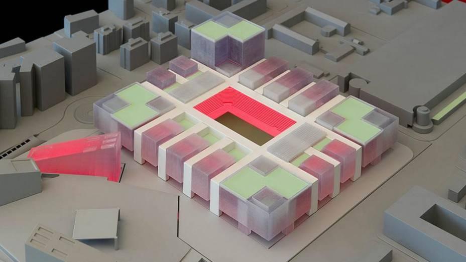 Maquete do futuro estádio do Milan, que deve ficar pronto até 2019