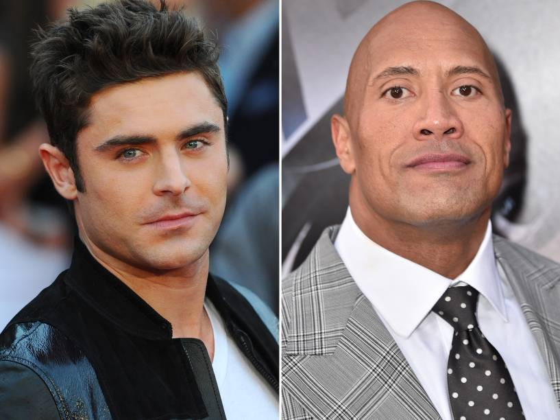Zac Efron e Dwayne Johnson