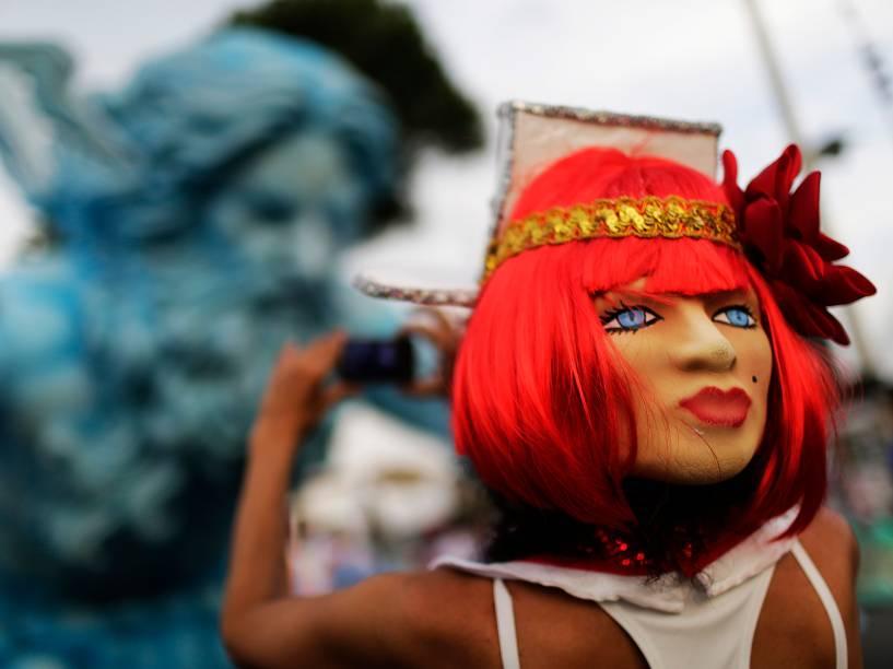 Movimentação do público antes dos desfiles das Escolas de Samba RJ 2016, no sambódromo da Marquês de Sapucaí