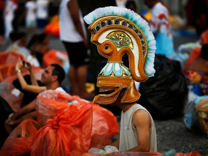 Movimentação antes dos desfiles das Escolas de Samba RJ 2016, no sambódromo da Marquês de Sapucaí