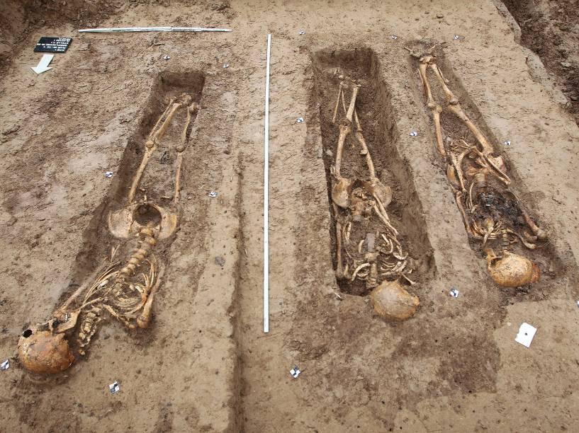 Esqueletos de soldados do exército de Napoleão são descobertos em um canteiro de obras em Frankfurt, na Alemanha - 17/09/2015