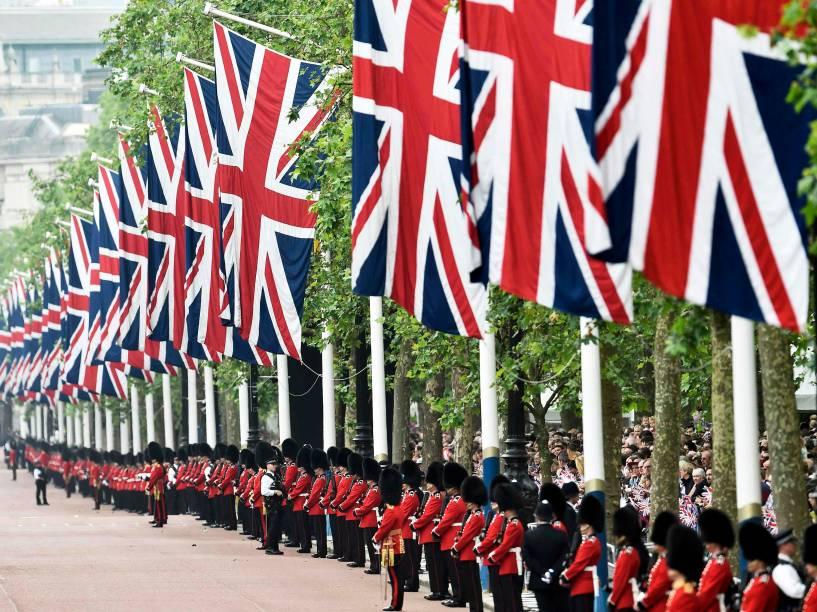Parada Trooping the Colour, que celebra o aniversário da rainha Elizabeth II, em Londres, na Inglaterra - 11/06/2016