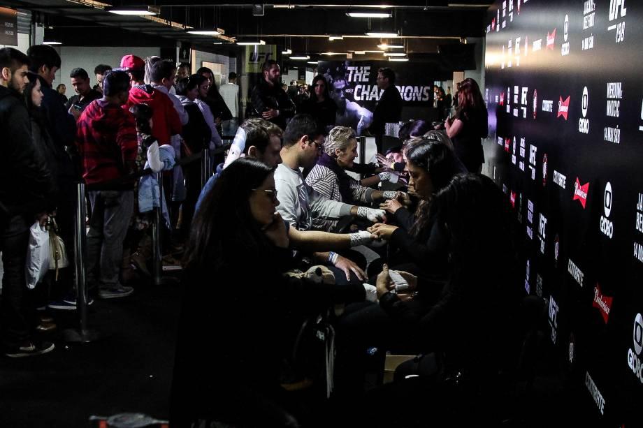 Público durante o UFC 198, na Arena da Baixada, em Curitiba