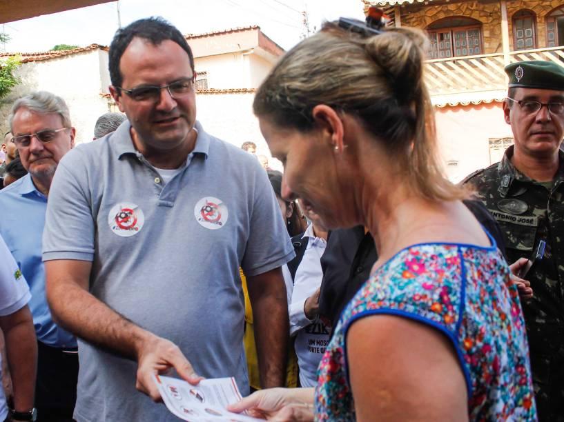 Ministro da Fazenda, Nelson Barbosa lança força tarefa para combater o mosquito Aedes Aegypti, transmissor da dengue, zika e chinkungunya, em Minas Gerais no bairro Nova Vista, região Leste, da cidade de Belo Horizonte, neste sabado (13)